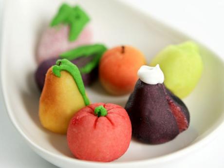 Receta de frutas de mazapán para niños