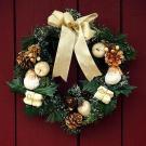 Tarjeta virtual de una corona de Navidad