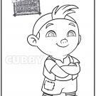 Dibujo para colorear del Capitán Hook. Dibujos Disney para niños