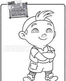 Dibujo de Cubby para colorear. Dibujos de Jake y los Piratas