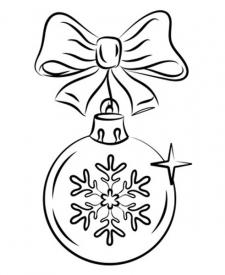 Dibujo de bola navideña para niños