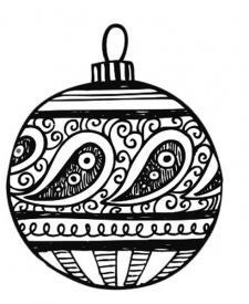 Dibujo de bola de Navidad