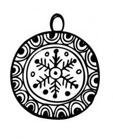 Dibujos de Navidad. Bola de Navidad