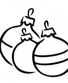 Bolas navideñas para colorear