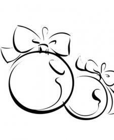 Bola navideña. Dibujo de Navidad para colorear