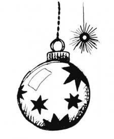 Bola navideña. Dibujo para niños