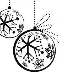 Dibujos de Navidad. Bola navideña para colorear