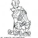 Dibujo del Conejo de Pascua para imprimir y colorear