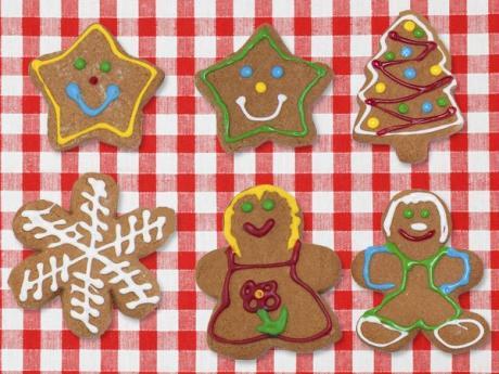 Galletas de jengibre para niños. Dulces de Navidad