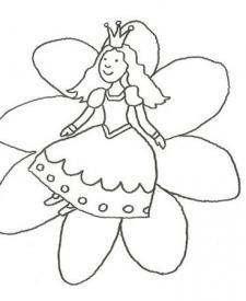 Dibujo de una princesa para colorear con los niños