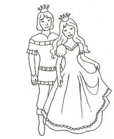 Dibujo de principes enamorados para imprimir y colorear