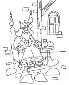 Dibujo Para Pintar Con Niños De Un Rey De Cuento