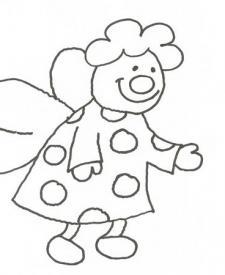Dibujo de un hada simpática para colorear con niños
