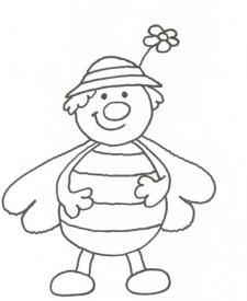 Dibujo de mariposa animada para pintar con niños