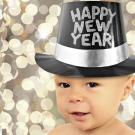 Tarjeta online de un bebé en Año Nuevo