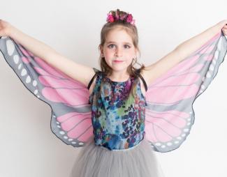 Disfraz de mariposa para niños