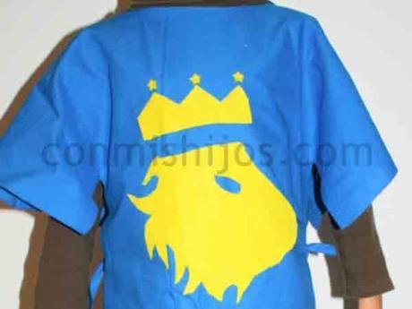 Disfraz de caballero medieval. Manualidad de Carnaval para niños