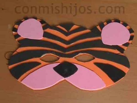 Antifaz De Tigre Manualidades De Carnaval Para Ninos