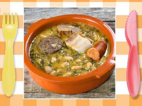 Receta pote asturiano. Guisos típicos para niños