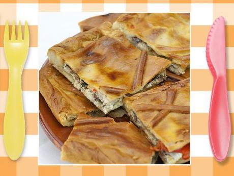 Receta empanada gallega de lomo para cocinar con niños
