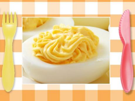 Huevos rellenos. Recetas rápidas para niños