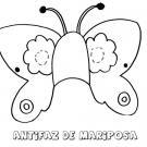 Antifaz de mariposa. Dibujos para colorear con los niños