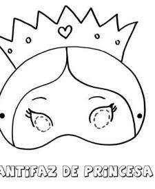 Antifaz De Princesa Dibujos Para Colorear Con Los Niños