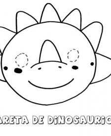Careta de dinosaurio. Dibujos para colorear con los niños