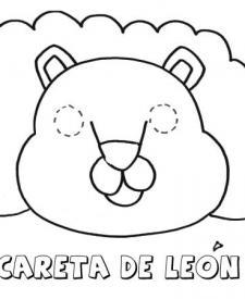 Careta de león. Dibujos para colorear con los niños