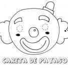 Careta de payaso. Dibujos para colorear con los niños