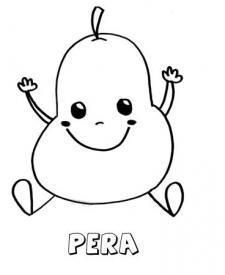 Dibujo de una pera. Imágenes para pintar con niños