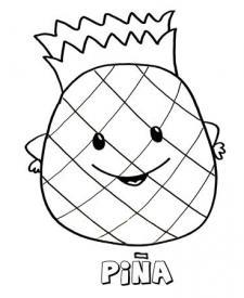 Dibujo de una piña. Imágenes para pintar con niños