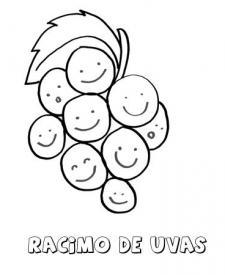 Dibujo de un racimo. Imágenes para pintar con niños