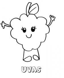 Dibujo de unas uvas. Imágenes para pintar con niños
