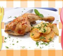 Pollo asado al microondas. Recetas rápidas para niños