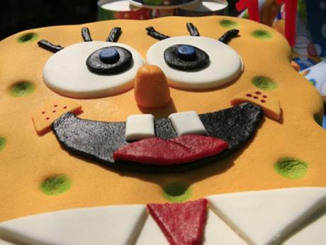 Receta de tarta de Bob Esponja para cocinar con los niños