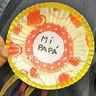 Medalla para papá. Manualidad infantil con papel