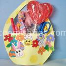 Cesta de cartulina decorada para Pascua