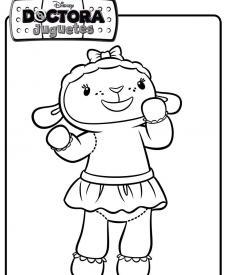 Dibujo de una ovejita. Dibujos de Disney para colorear