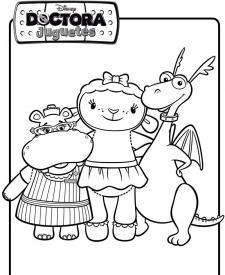 Dibujo de los amigos de Doctora Juguetes. Dibujos de Disney