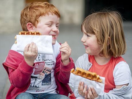 Gofres belgas. receta de postre fácil para niños
