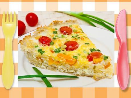 Quiche de tomate y queso, receta de cena fácil para niños