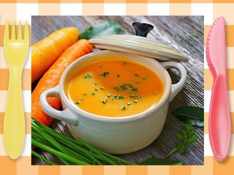 Crema de zanahorias. Recetas de purés saludables para niños