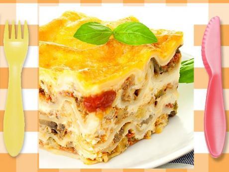 Lasaña de atún y verduras, receta italiana para niños