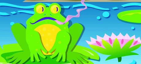 Canción de la rana cantando para niños
