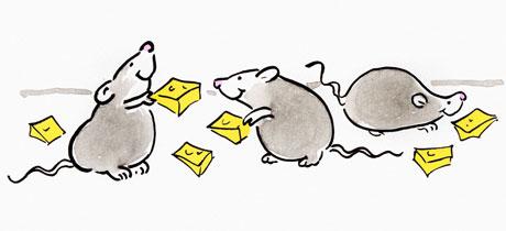 Canciones infantiles con los números: Cinco ratoncitos