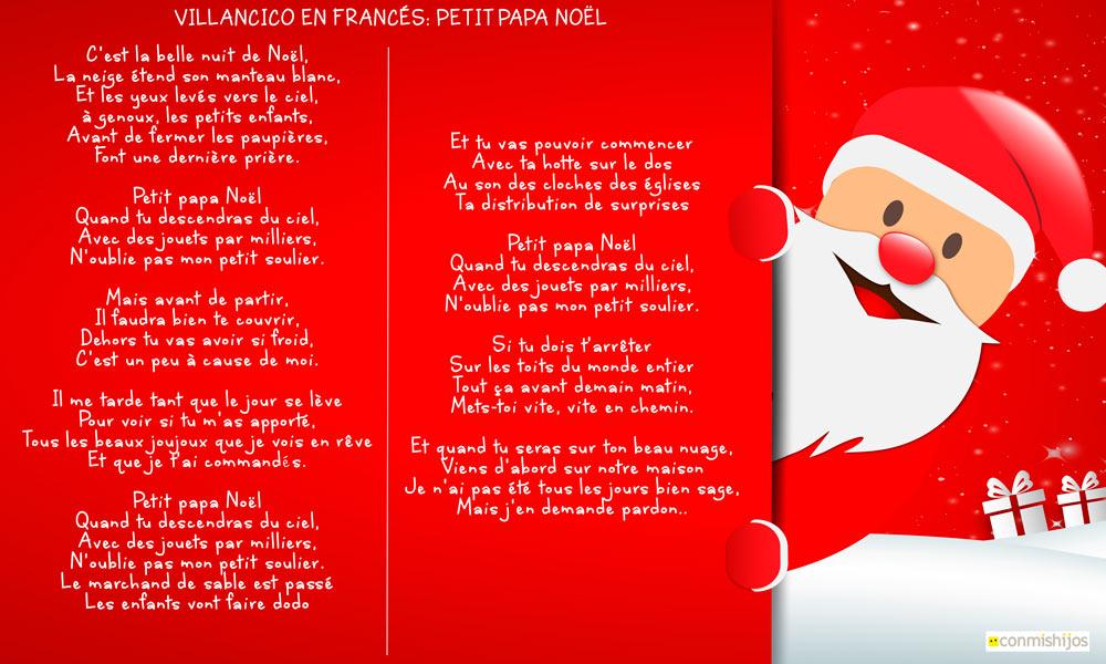 Petit Papa Noël Canción De Navidad En Francés Para Niños