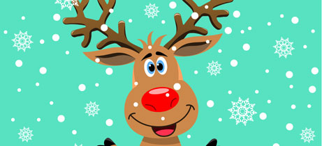 Rudolph the red nosed reindeer canciones de navidad en for Dibujos de renos en navidad