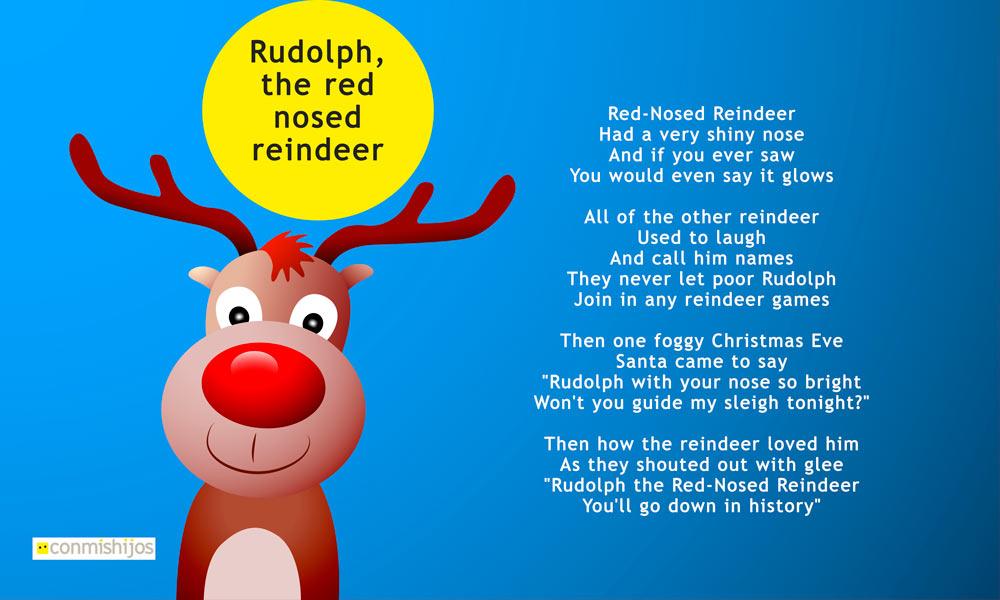 Rudolph The Red Nosed Reindeer Canciones De Navidad En Inglés