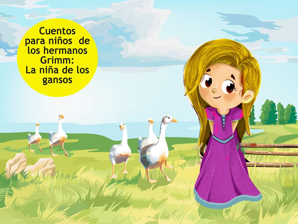 cuento de la niña de los gansos